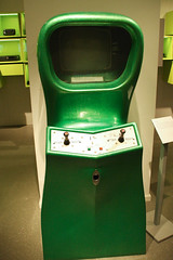 machine, video game arcade cabinet, games, green,