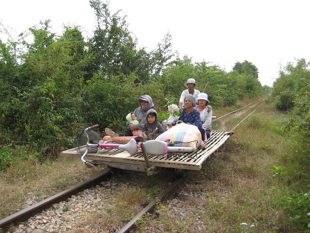 Bamboo train (Battambang, Cambodia 2011)
