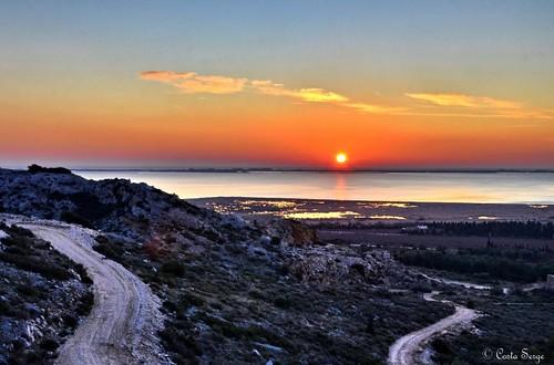 road sea mer sunrise pond nikon route hdr leverdesoleil étang pyrénéesorientales salses d7000 ringexcellence dblringexcellence tplringexcellence étangdesalses