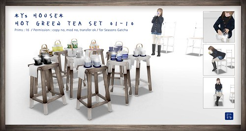 *Y's HOUSE* Hot Green Tea set-1~10_for Seasons Gacha