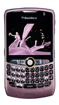nextel blackberry pink
