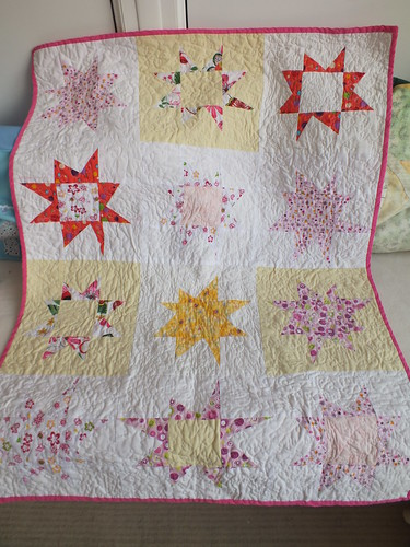 wonky star quilt all finished