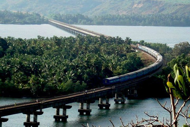 konkan railway bridge near honnavar