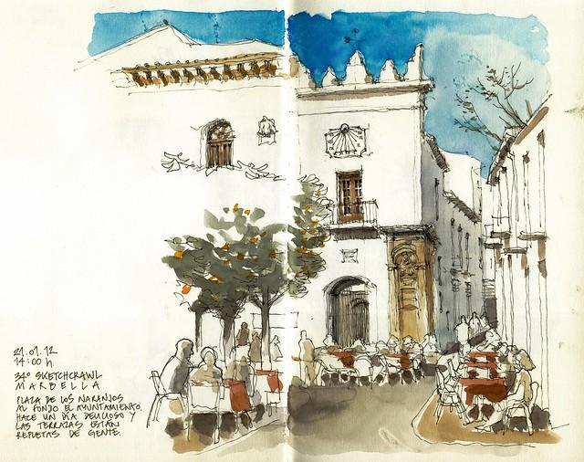 Marbella, Plaza de los Naranjos