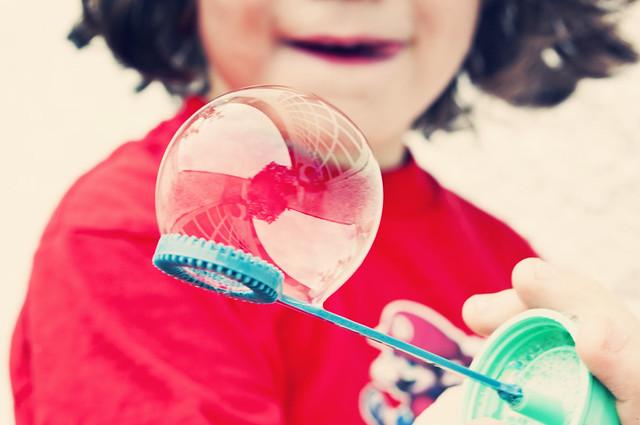 **Semana3/53** ... Mi patio reflejado en la burbuja de agua