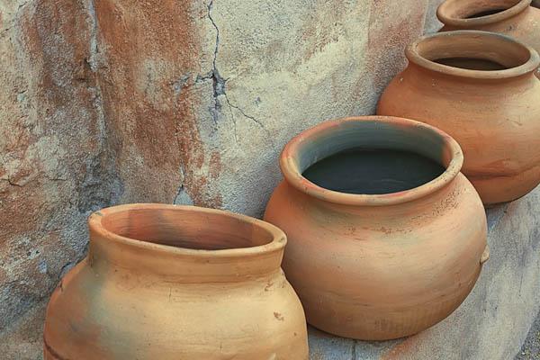 Pottery in Tumacacori Granary