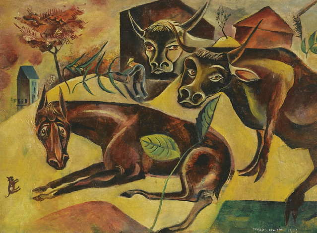 [ E ] Max Ernst - Horse and Cows (1913)