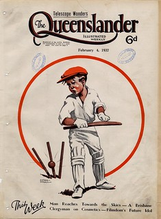 Illustrated front cover from The Queenslander, February 4, 1937