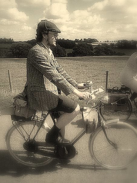Josef, riding Rowan's '57 Raleigh Superbe