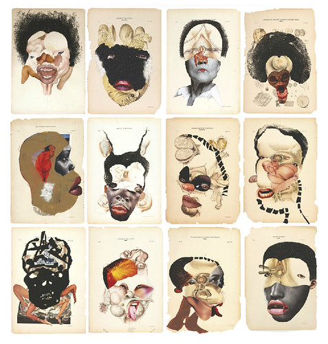 [ M ] Wangechi Mutu - Histology of the Different Classes of Uterine Tummors (2004) by Cea.
