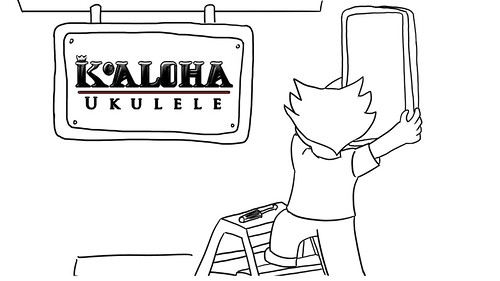 Alvin Okami - My KoAloha Story KoAloha Sign (cartoon form)