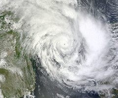 Tropical Cyclone Funso (08S) over the Mozambique Channel