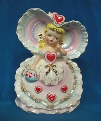 Relpo Vintage Valentine Lady Planter - Japan