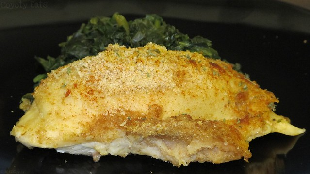 Stuffed chicken and spinach