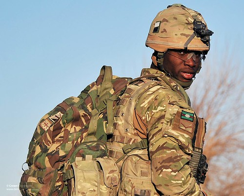 Soldier with 1st Battalion the Yorkshire Regiment on Patrol in Afghanistan