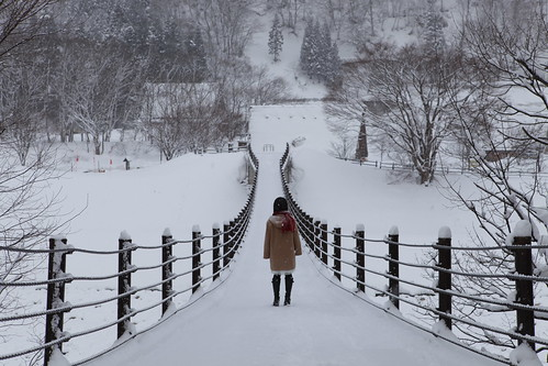 [LAST FRAGMENTS OF WINTER] A girl alone on a bridge