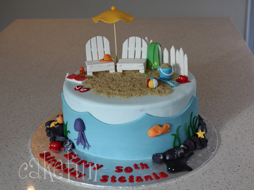 Beach cake Flickr - Photo Sharing!