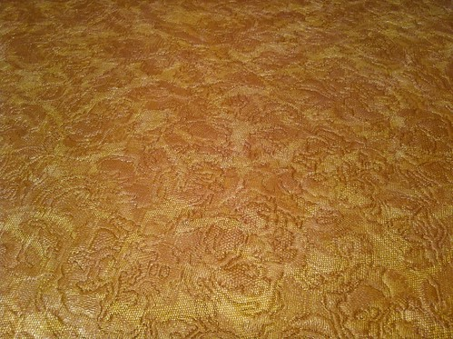 Layer two - orange and yellow lace embossed vinyl