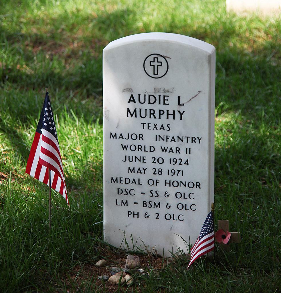 Audie Murphy grave - Arlington National Cemetery - 2011
