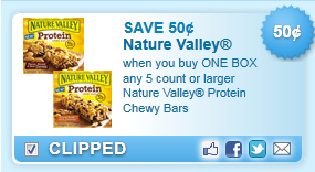 Nature Valley Protein Chewy Bars Coupon