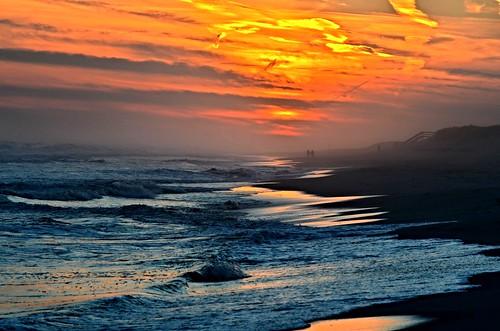ocean sunset sea color beach water sand waves longislandny nikond5100 }newyork