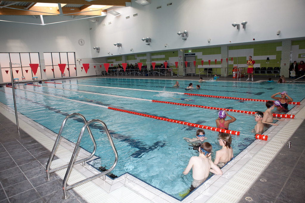 Harborne pool official opening swimmers take the plunge for Pool show birmingham
