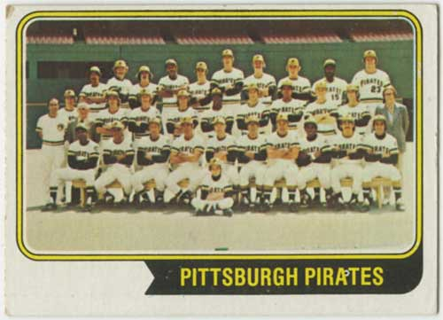 1974 Topps Pittsburgh Pirates Team Card