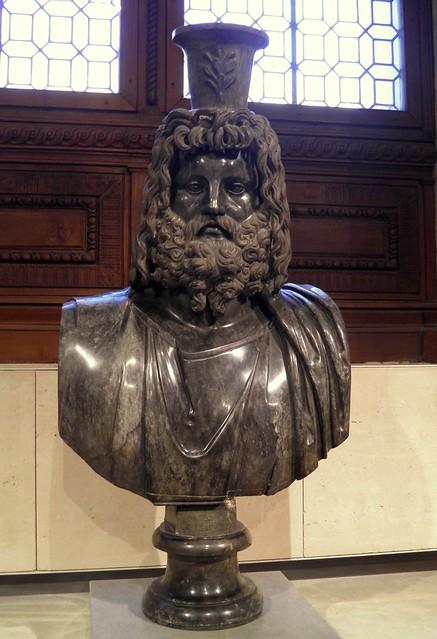 Buste de Sérapis IIe siècle après J.-C. (?), Louvre Museum, Paris