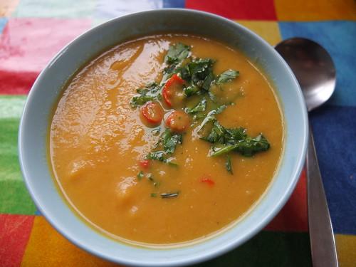 Kick-ass carrot & coriander soup