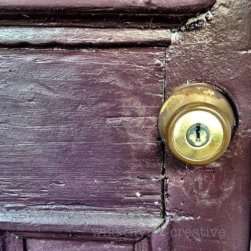 Purple door downtown Apalachicola, FL