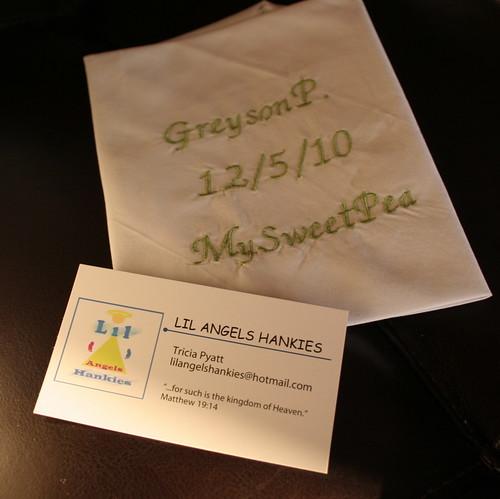 Handkerchief for Greyson