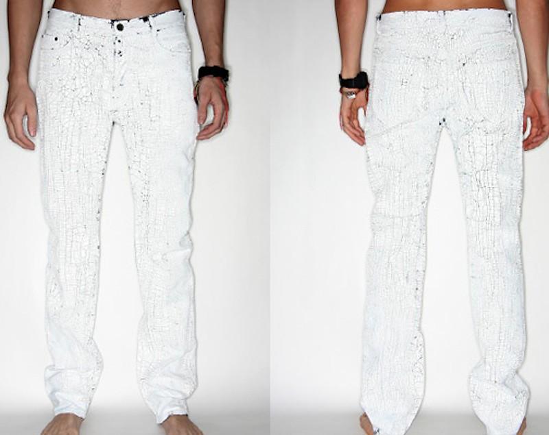 Maison Martin Margiela white paper jeans 4