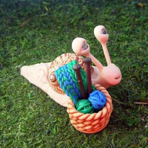 Knitting Snail