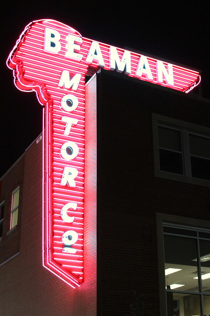 Beaman Motors Neon Sign (2012)