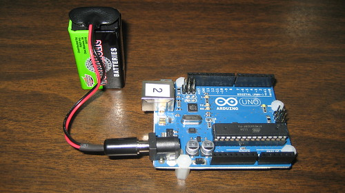Arduino Uno running on 9 Volt battery