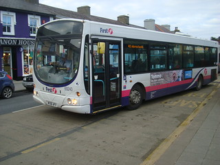 Bus on service 40 at Aberaeron Alban Square