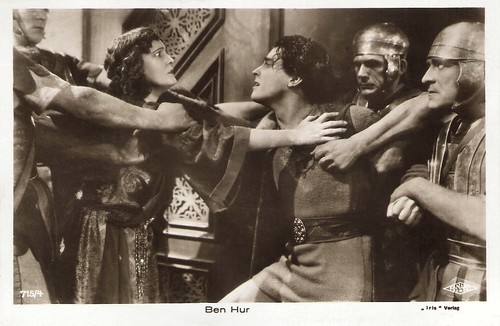 Ramon Novarro and Claire McDowell in Ben-Hur