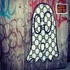 Boo! #Gucci #ghost #wheatpaste #graffiti #StreetArt #greenpoint #Brooklyn #NYC