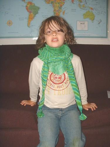 llamas green shawl tied