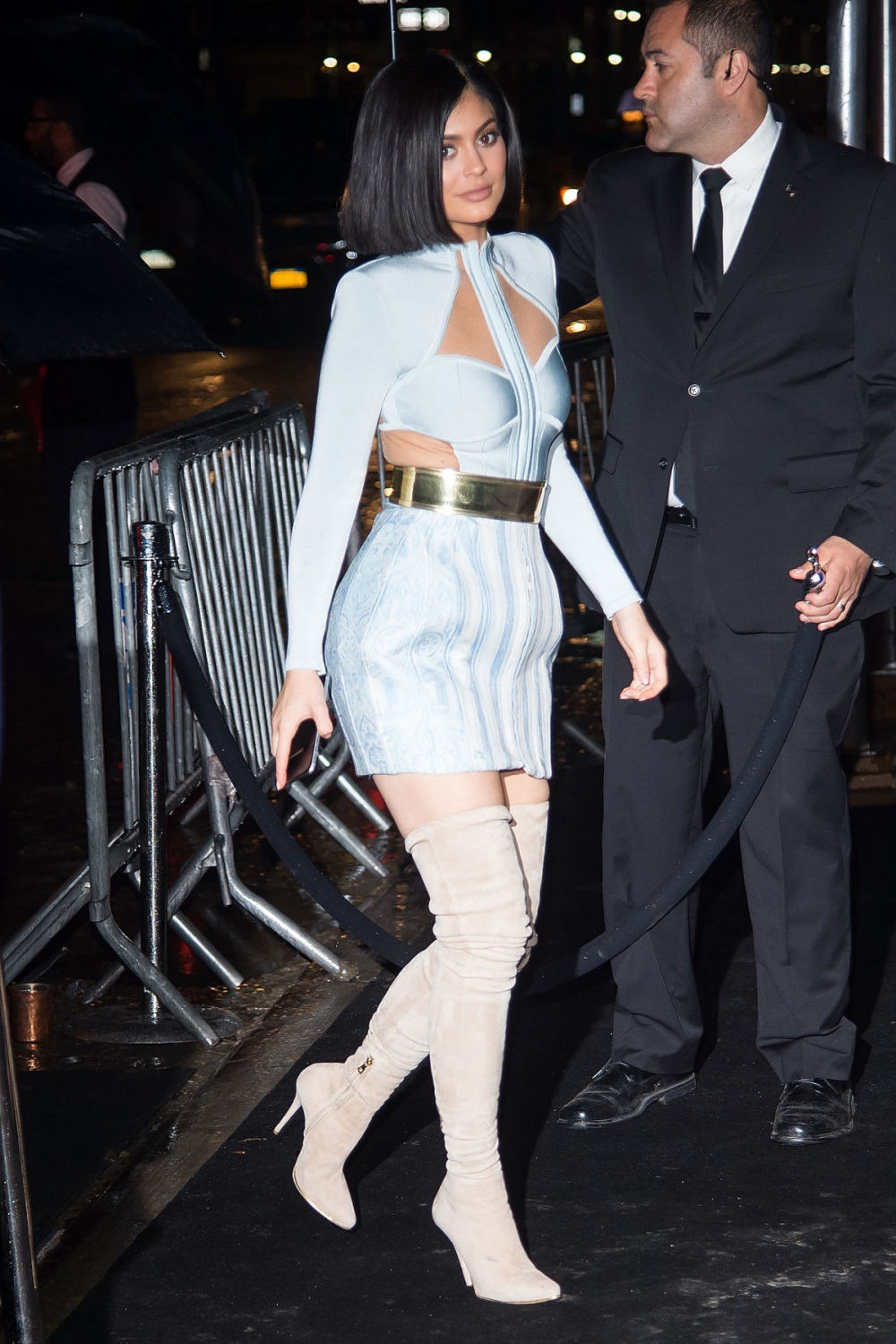 Kylie Jenner Arriving at the Costume Institute Gala Balmain After Party at Gilded Lily in New York City