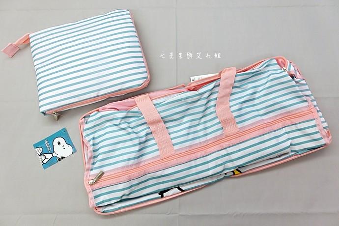 3 康是美 SNOOPY 瘋旅行 - 史努比行李吊牌、折疊旅行袋、行李箱、收納袋三件組、後背包、行李束帶、烤土司機、循環扇