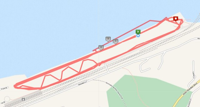 """Today""""s awesome walk, 3.8 miles in 1:20, 8,562 steps"""