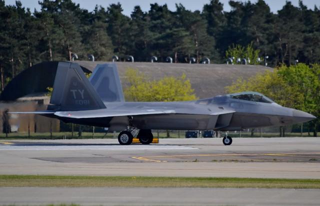 United States Air Force Lockheed Martin F-22A Raptor 05-4081 at RAF Lakenheath 5/5/16