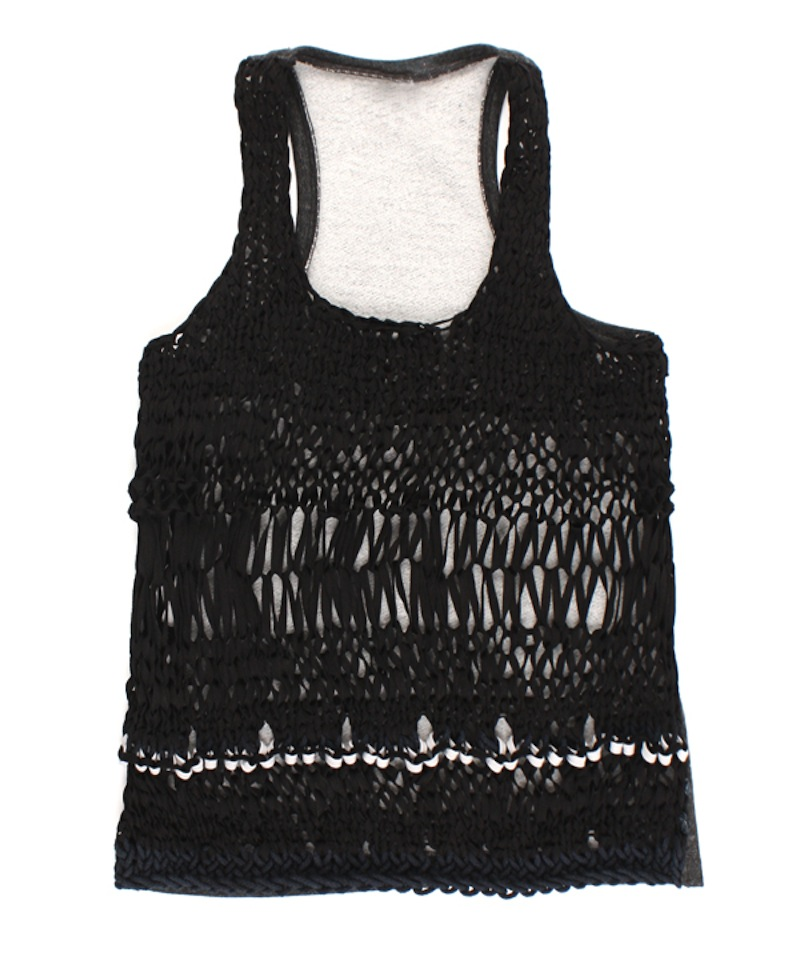 BEDFORD STREET LAUNDRY  SHOELACE KNIT FRONT TANK 5