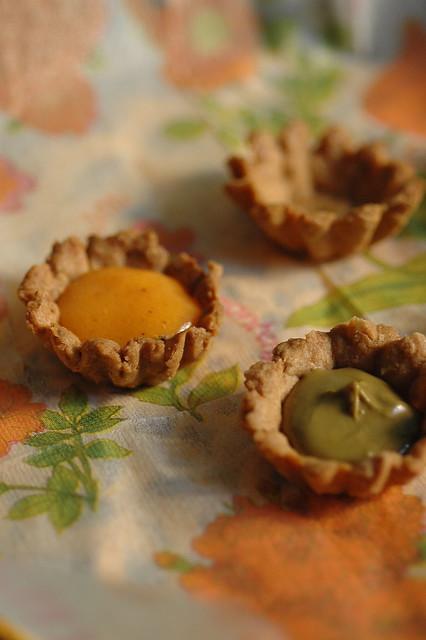 frolle integrali con crema al pistacchio
