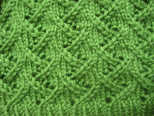 Green Lotus Stitch Detail