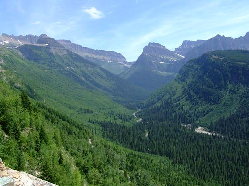 blik richting Logan Pass