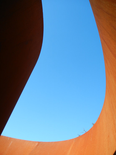 Steel Sculpture by Richard Serra, Cantor Arts Center, Stanford University _ 8367