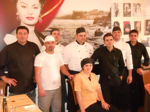 Lo Staff del Ristorante Donna Sofia a Sorrento Foto di Vincenzo Califano