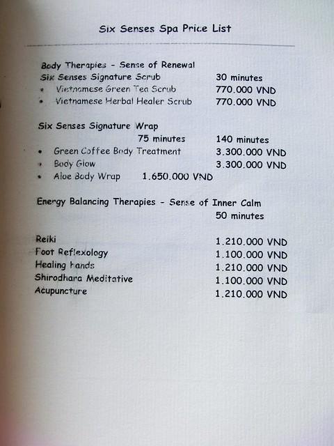 """Six Senses Spa """"treatment menu"""" 23"""
